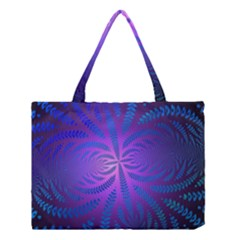 Background Brush Particles Wave Medium Tote Bag by Amaryn4rt
