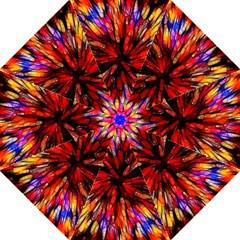 Color Batik Explosion Colorful Hook Handle Umbrellas (medium) by Amaryn4rt
