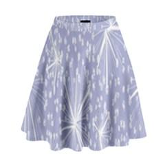 Floral Gray Springtime Flower High Waist Skirt by Alisyart