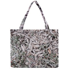 Ice Leaves Frozen Nature Mini Tote Bag by Amaryn4rt