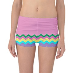 Easter Chevron Pattern Stripes Boyleg Bikini Bottoms by Amaryn4rt