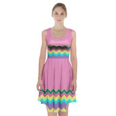Easter Chevron Pattern Stripes Racerback Midi Dress by Amaryn4rt