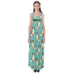 Dog Animal Pattern Empire Waist Maxi Dress