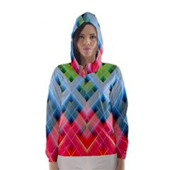 Graphics Colorful Colors Wallpaper Graphic Design Hooded Wind Breaker (women) by Amaryn4rt