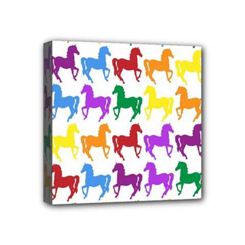 Colorful Horse Background Wallpaper Mini Canvas 4  X 4