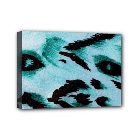 Animal Cruelty Pattern Mini Canvas 7  X 5  by Amaryn4rt