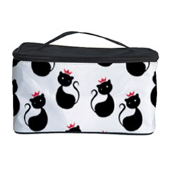 Cat Seamless Animal Pattern Cosmetic Storage Case by Amaryn4rt
