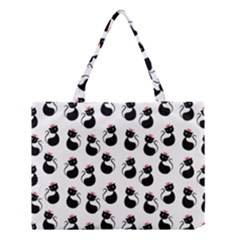 Cat Seamless Animal Pattern Medium Tote Bag by Amaryn4rt