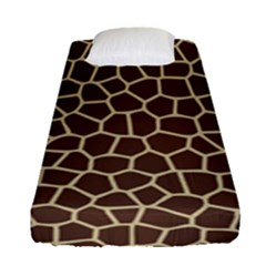 Leather Giraffe Skin Animals Brown Fitted Sheet (single Size) by Alisyart