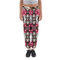 Flowers Fabric Women s Jogger Sweatpants by Amaryn4rt