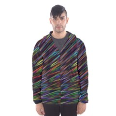 Texture Colorful Abstract Pattern Hooded Wind Breaker (men) by Amaryn4rt