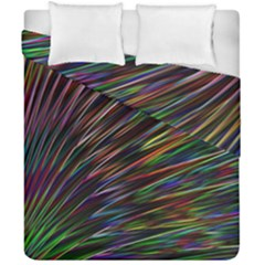 Texture Colorful Abstract Pattern Duvet Cover Double Side (california King Size) by Amaryn4rt