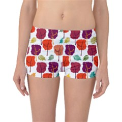 Tree Pattern Background Boyleg Bikini Bottoms