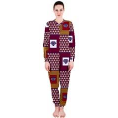 African Fabric Diamon Chevron Yellow Pink Purple Plaid OnePiece Jumpsuit (Ladies)  by Alisyart