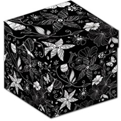 Floral Flower Rose Black Leafe Storage Stool 12   by Alisyart