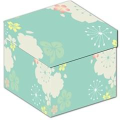 Flower Blue Pink Yellow Storage Stool 12   by Alisyart