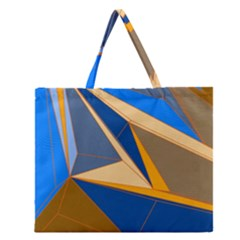 Abstract Background Pattern Zipper Large Tote Bag by Amaryn4rt