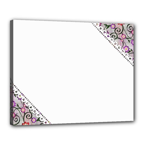 Floral Ornament Baby Girl Design Canvas 20  X 16  by Amaryn4rt