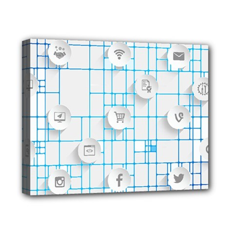 Icon Media Social Network Canvas 10  X 8  by Amaryn4rt