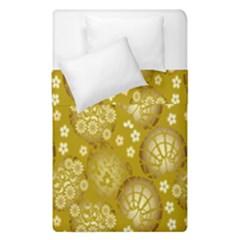 Flower Arrangements Season Gold Duvet Cover Double Side (single Size) by Alisyart