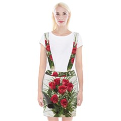 Red Roses Roses Red Flower Love Suspender Skirt by Amaryn4rt