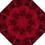 Roses Flowers Red Forest Bloom Hook Handle Umbrellas (Medium)