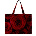 Roses Flowers Red Forest Bloom Zipper Mini Tote Bag