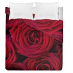 Roses Flowers Red Forest Bloom Duvet Cover Double Side (Queen Size)