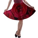 Roses Flowers Red Forest Bloom A-line Skater Skirt