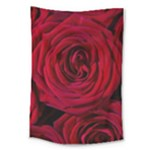 Roses Flowers Red Forest Bloom Large Tapestry