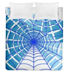 Cobweb Network Points Lines Duvet Cover Double Side (queen Size) by Amaryn4rt