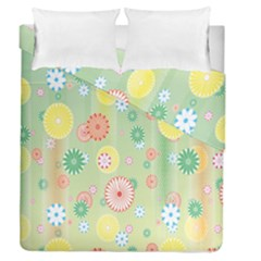 Flower Arrangements Season Pink Yellow Red Rose Sunflower Duvet Cover Double Side (Queen Size) by Alisyart