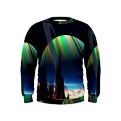 Planets In Space Stars Kids  Sweatshirt by Amaryn4rt