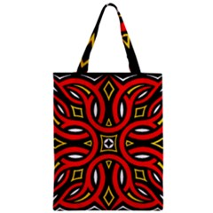 Traditional Art Pattern Zipper Classic Tote Bag by Amaryn4rt