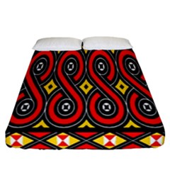 Toraja Traditional Art Pattern Fitted Sheet (california King Size) by Amaryn4rt