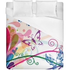 Butterfly Vector Art Duvet Cover (california King Size) by Amaryn4rt