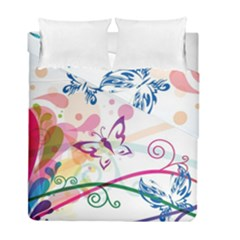 Butterfly Vector Art Duvet Cover Double Side (full/ Double Size) by Amaryn4rt