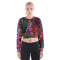 City Photography And Art Women s Cropped Sweatshirt by Amaryn4rt