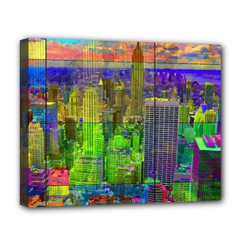 New York City Skyline Deluxe Canvas 20  x 16