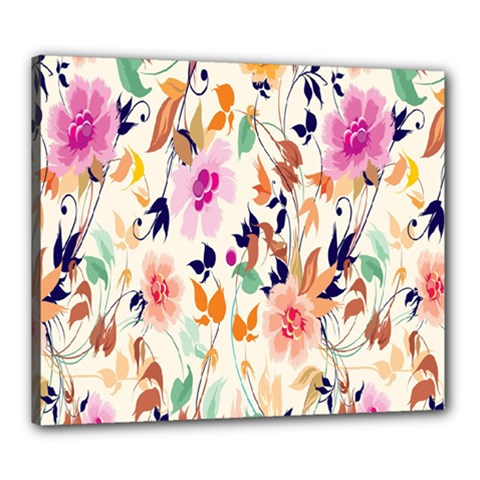 Vector Floral Art Canvas 24  X 20  by Amaryn4rt