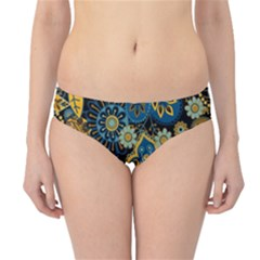 Retro Ethnic Background Pattern Vector Hipster Bikini Bottoms