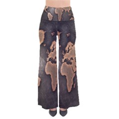 Grunge Map Of Earth Pants by Amaryn4rt