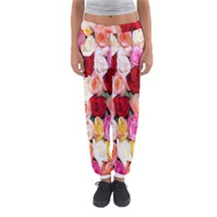 Rose Color Beautiful Flowers Women s Jogger Sweatpants by Amaryn4rt