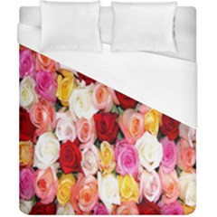 Rose Color Beautiful Flowers Duvet Cover (california King Size) by Amaryn4rt