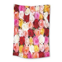 Rose Color Beautiful Flowers Small Tapestry by Amaryn4rt
