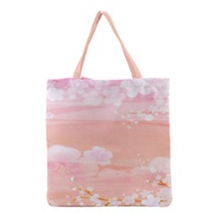 Season Flower Floral Pink Grocery Tote Bag by Alisyart