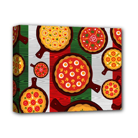 Pizza Italia Beef Flag Deluxe Canvas 14  X 11  by Alisyart