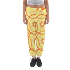 Lemons Orange Lime Circle Star Yellow Women s Jogger Sweatpants by Alisyart