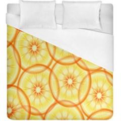 Lemons Orange Lime Circle Star Yellow Duvet Cover (king Size) by Alisyart
