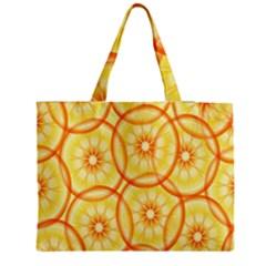Lemons Orange Lime Circle Star Yellow Medium Tote Bag by Alisyart